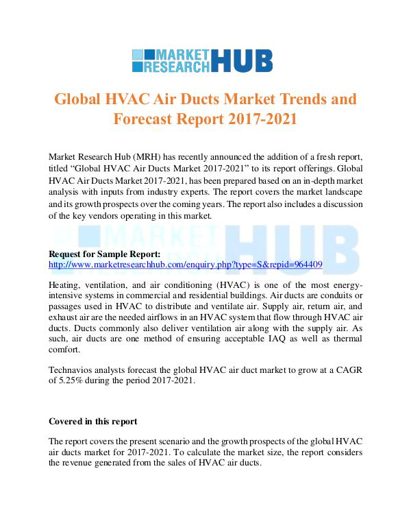 Market Research Report Global HVAC Air Ducts Market Trends