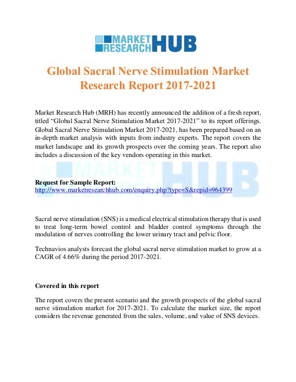 Market Research Report Sacral Nerve Stimulation Market Research Report