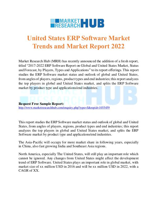 Market Research Report United States ERP Software Market Report