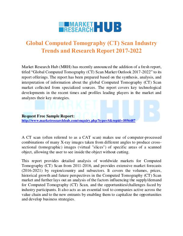 Market Research Report Computed Tomography (CT) Scan Industry Trends