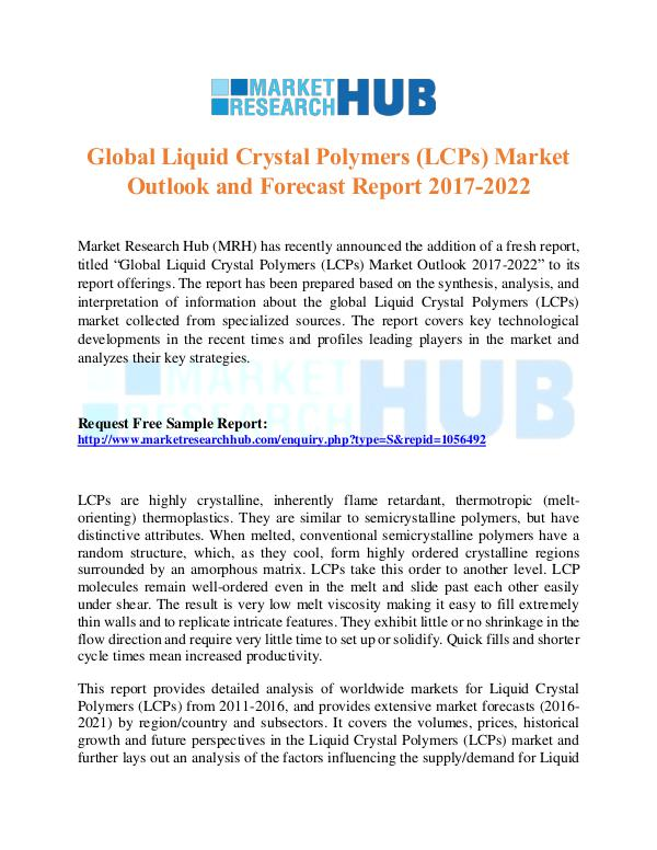 Market Research Report Liquid Crystal Polymers Market Report