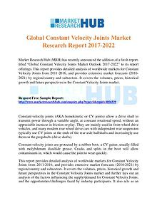 Market Research Report Global Constant Velocity Joints Market Report