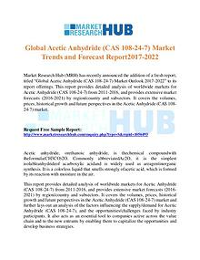 Market Research Report Global Acetic Anhydride Market Trends Report