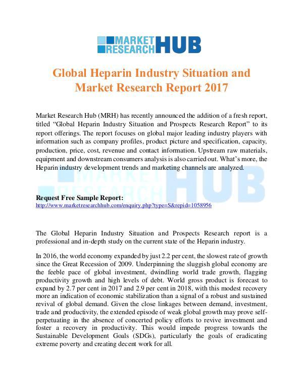 Market Research Report Global Heparin Industry Market Report