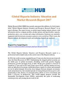 Market Research Report Global Heparin Industry Market Report