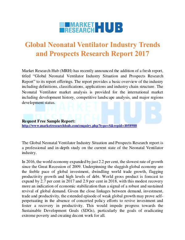 Market Research Report Global Neonatal Ventilator Industry Trends Report