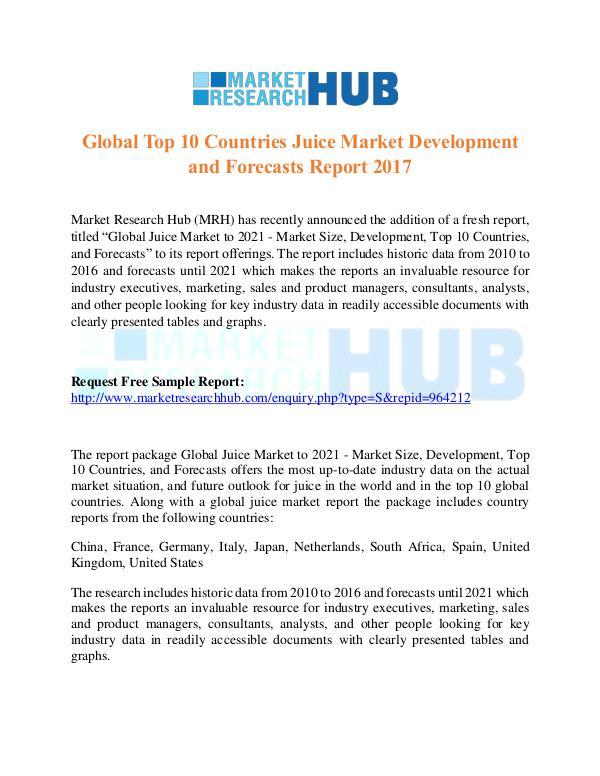 Market Research Report Global Top 10 Countries Juice Market Trends