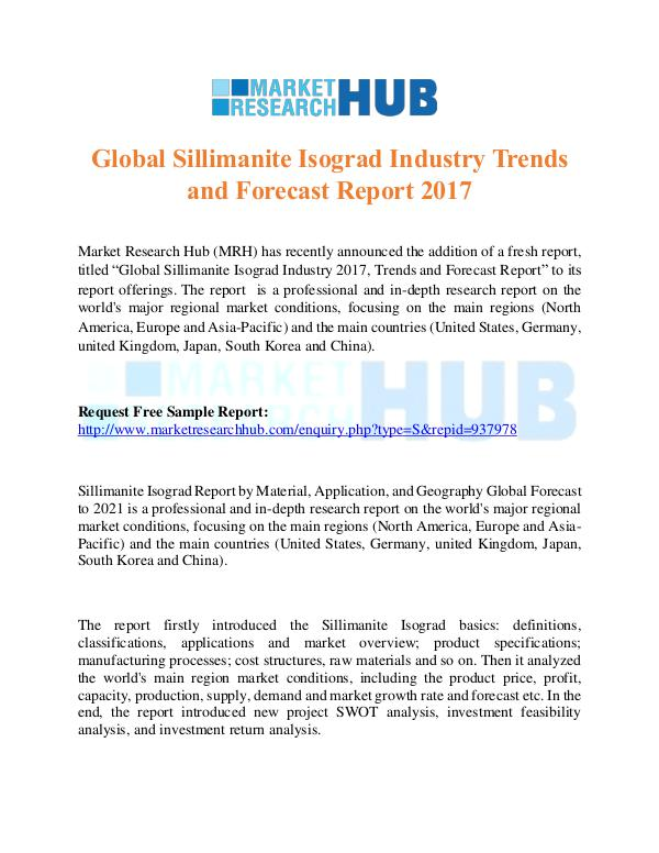 Market Research Report Global Sillimanite Isograd Industry Trends Report
