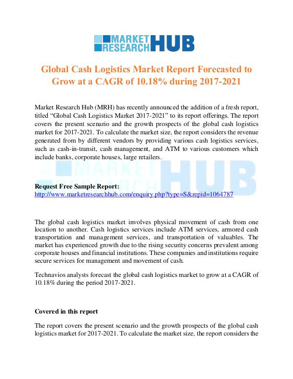 Market Research Report Global Cash Logistics Market Report 2017
