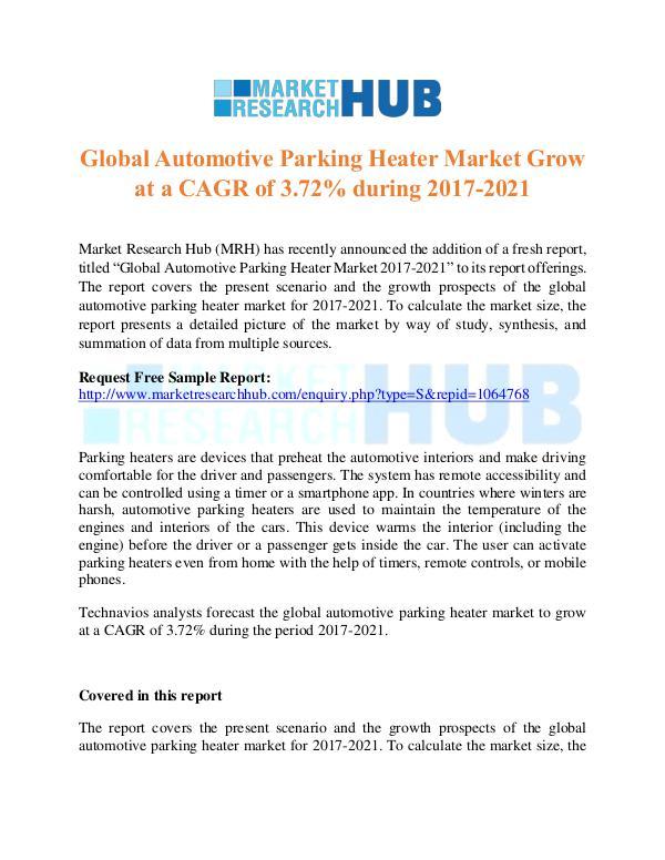 Market Research Report Global Automotive Parking Heater Market Report