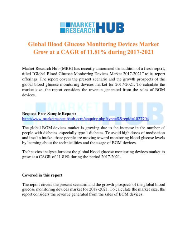 Market Research Report Blood Glucose Monitoring Devices Market Report