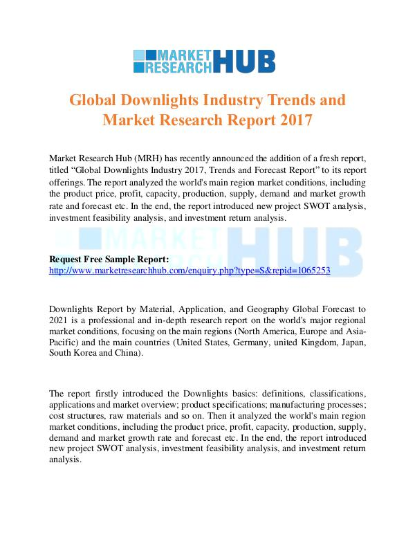 Market Research Report Global Downlights Industry Trends and Market Repor