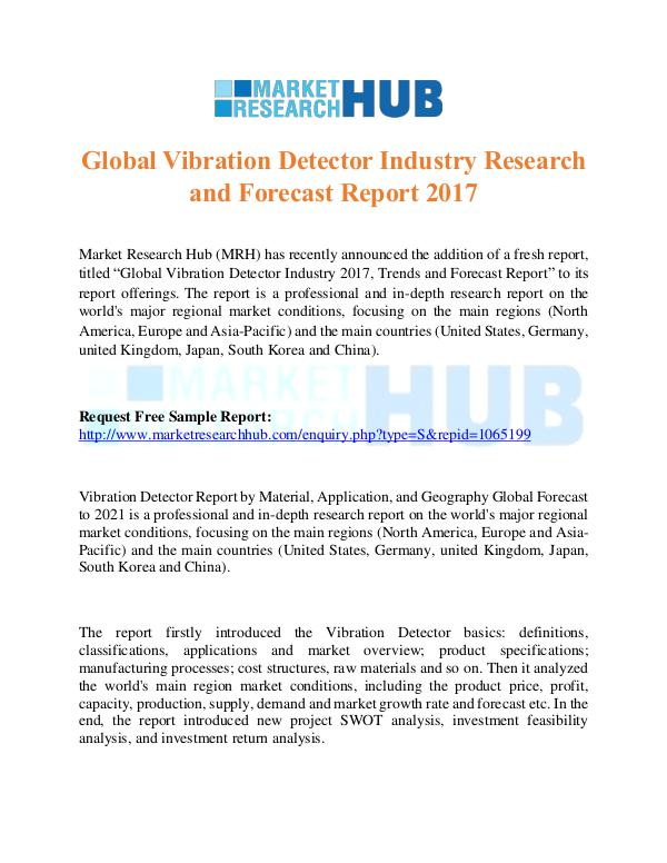 Market Research Report Global Vibration Detector Industry Research Report