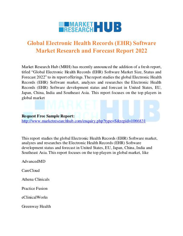 Market Research Report Electronic Health Records  Software Market Report