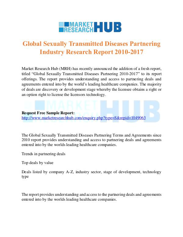 Market Research Report Sexually Transmitted Diseases Partnering Industry