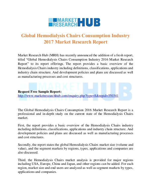 Market Research Report Hemodialysis Chairs Consumption Industry ...