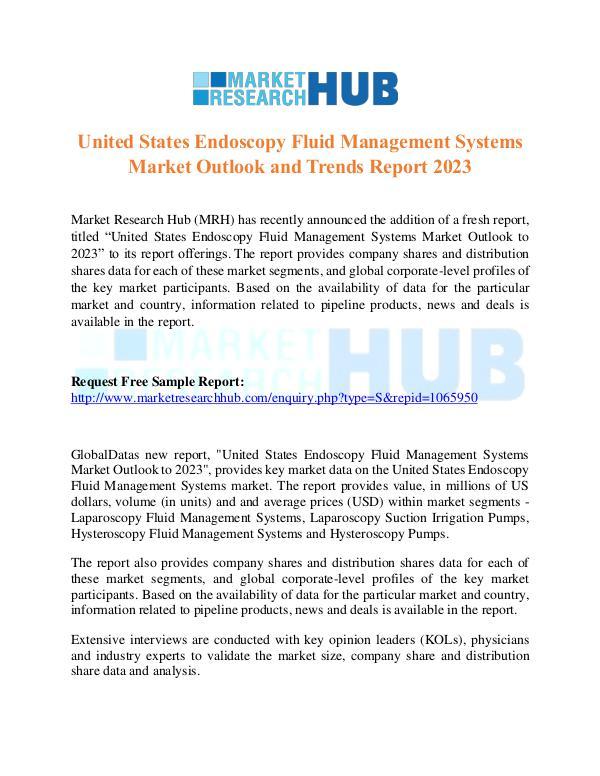 Market Research Report US Endoscopy Fluid Management Systems Market Trend