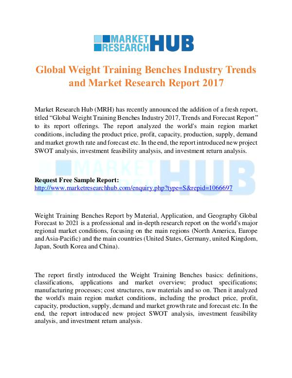 Market Research Report Global Weight Training Benches Industry Trends