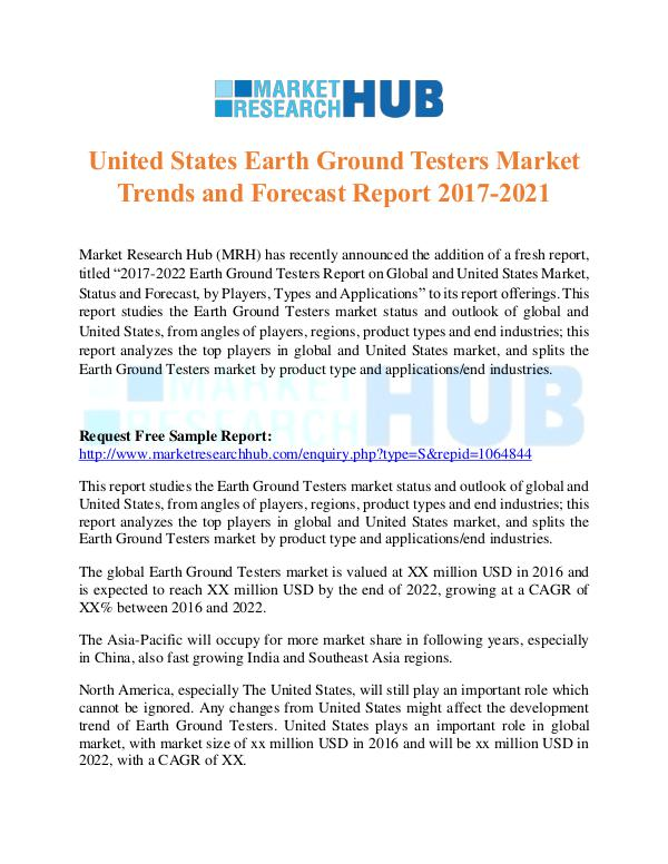 Market Research Report Earth Ground Testers Market Trends Report 2017