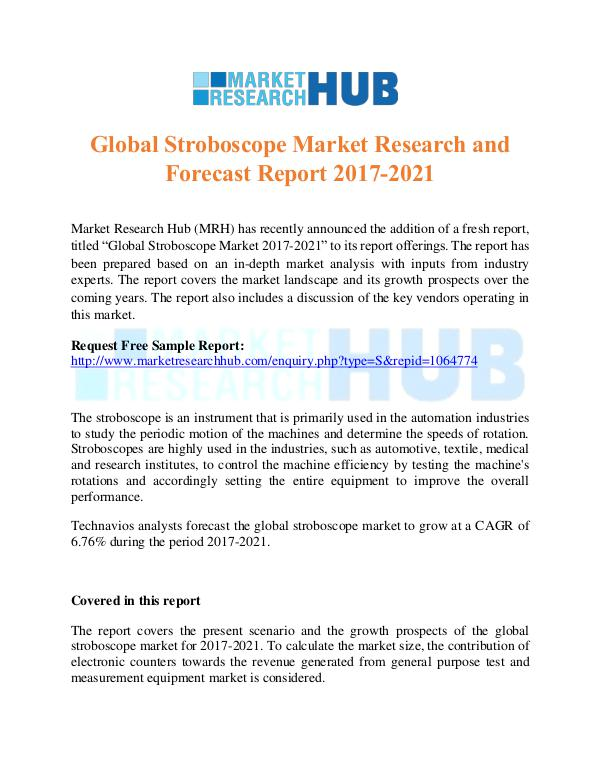 Market Research Report Global Stroboscope Market Research Report 2017