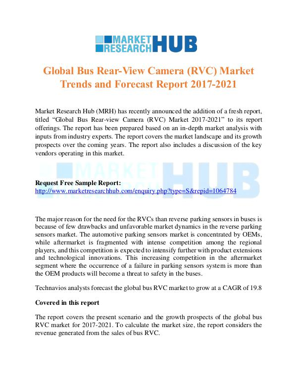 Market Research Report Global Bus Rear-View Camera (RVC) Market Trends