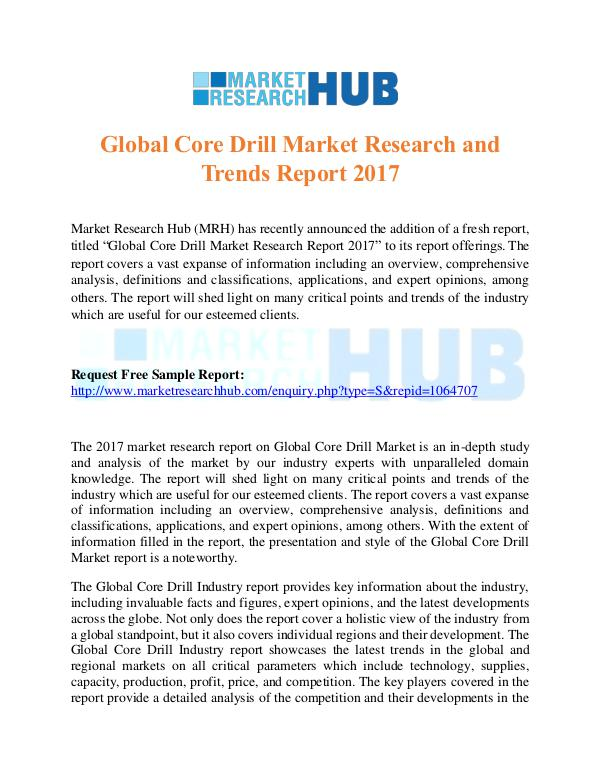 Market Research Report Global Core Drill Market Research & Trends Report