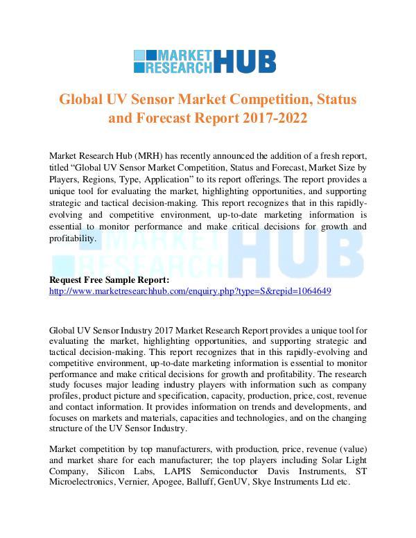 Market Research Report Global UV Sensor Market Research Report