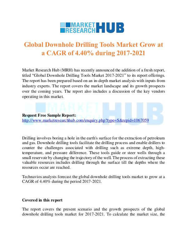 Market Research Report Global Downhole Drilling Tools Market Report