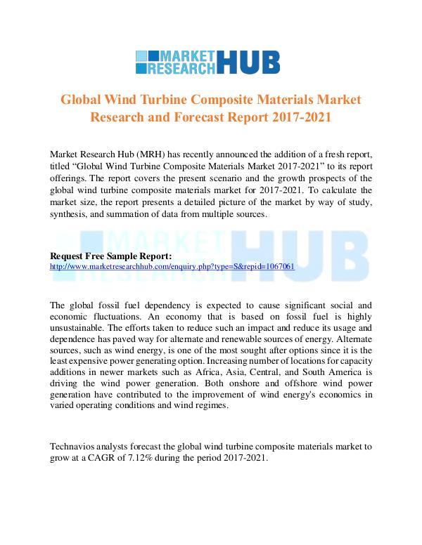 Market Research Report Global Wind Turbine Composite Materials Market
