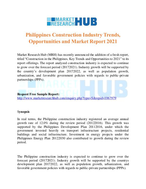 Philippines Construction Industry Trends Report