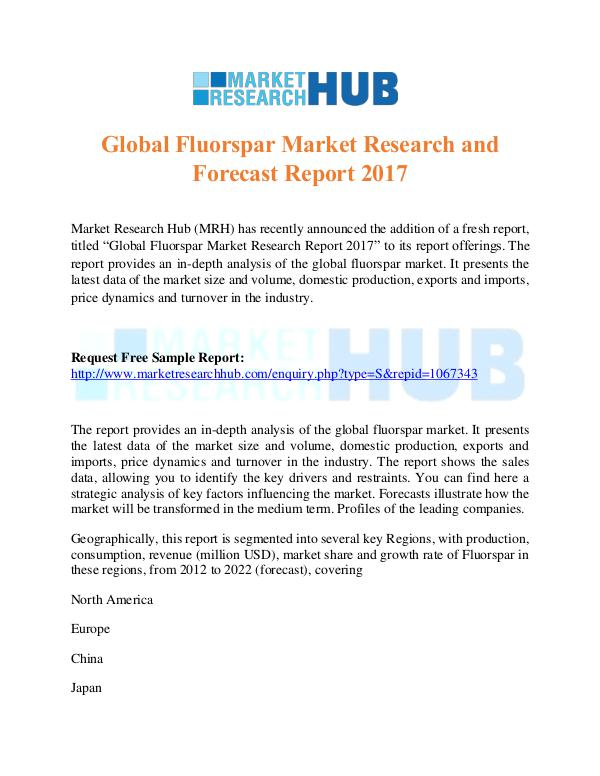 Global Fluorspar Market Research & Forecast Report