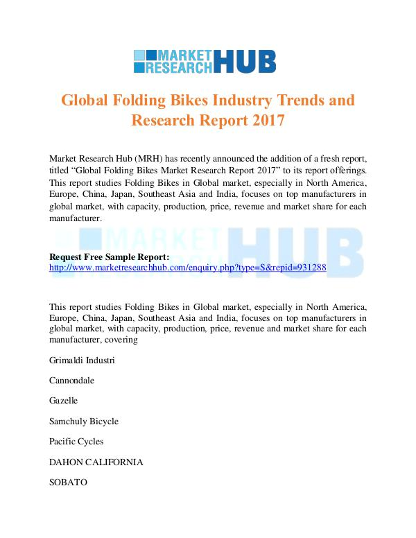 Global Folding Bikes Industry Trends Report