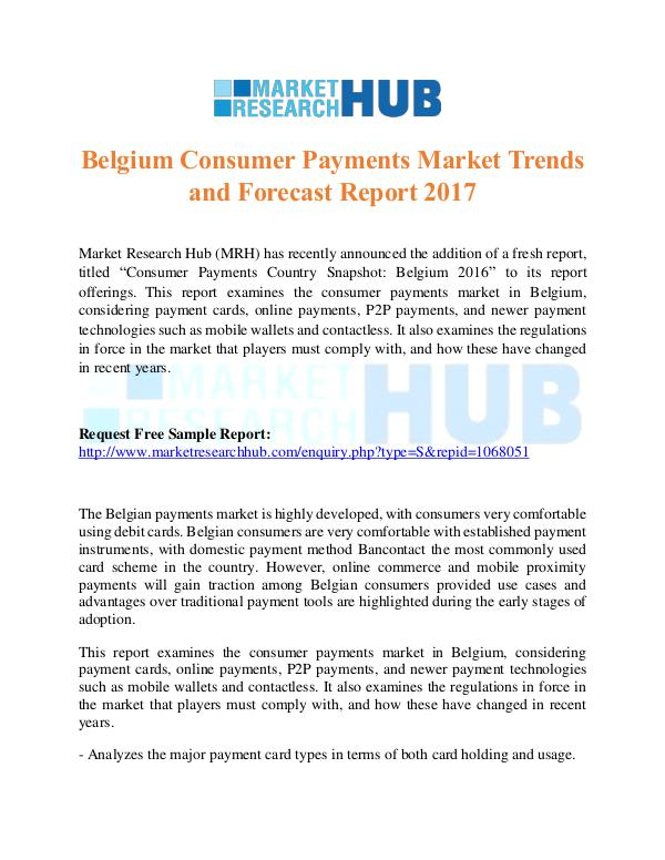 Belgium Consumer Payments Market Trends Report