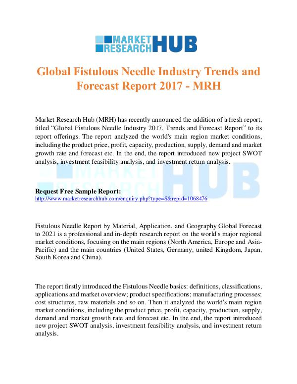 Global Fistulous Needle Industry Trends