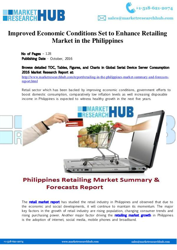 Market Research Report Improved Economic Conditions Set to Enhance Retail