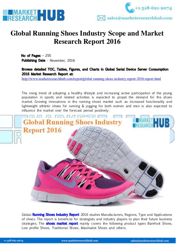 Market Research Report Global Running Shoes Industry Scope Report