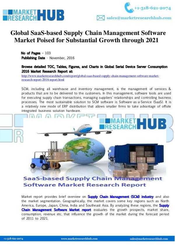 Market Research Report Global SaaS-based Supply Chain Management Software
