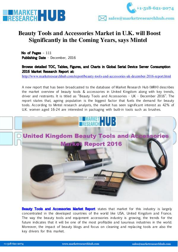 Market Research Report UK Beauty Tools and Accessories Market Report