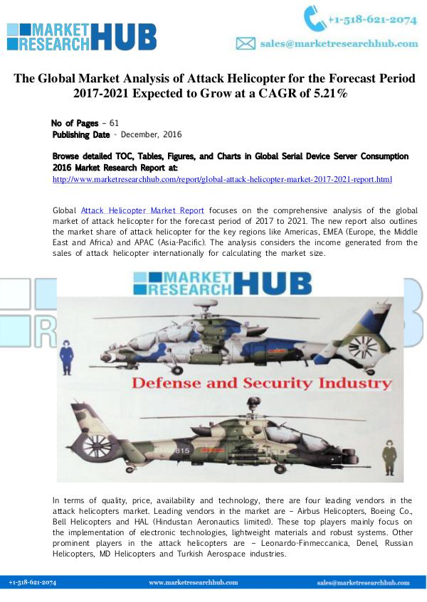 Market Research Report Global Attack Helicopter Market Report 2017