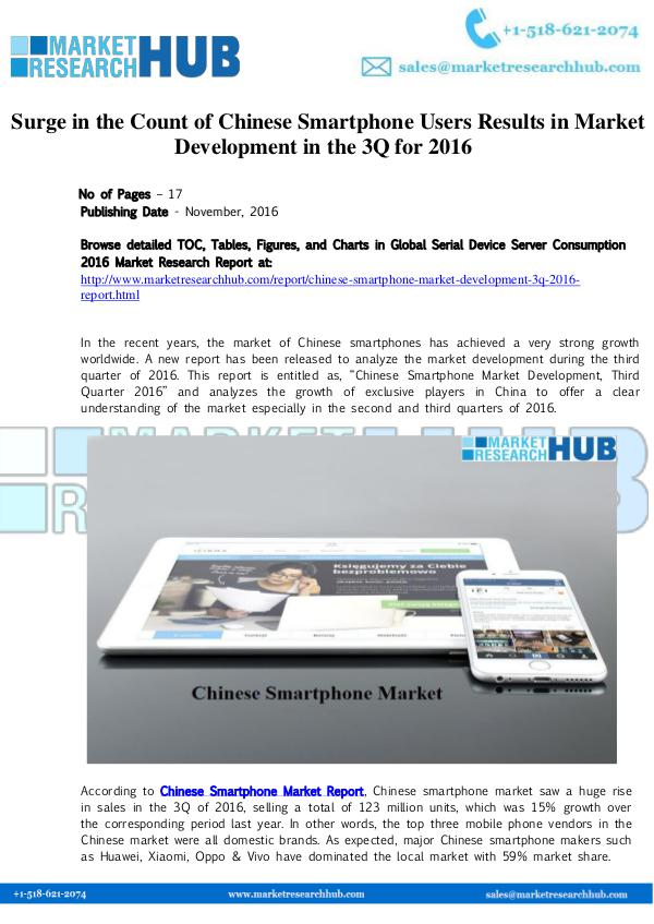 Market Research Report Chinese Smartphone Market Development Report