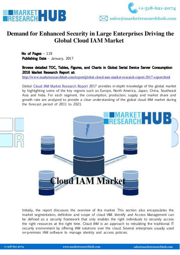 Market Research Report Cloud IAM Market Research Report 2017