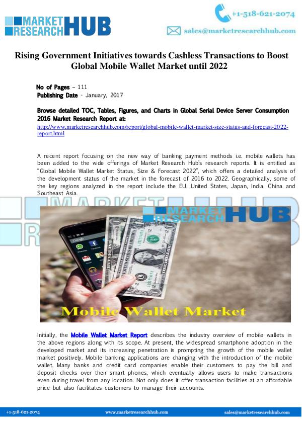 Market Research Report Global Mobile Wallet Market Research Report 2017