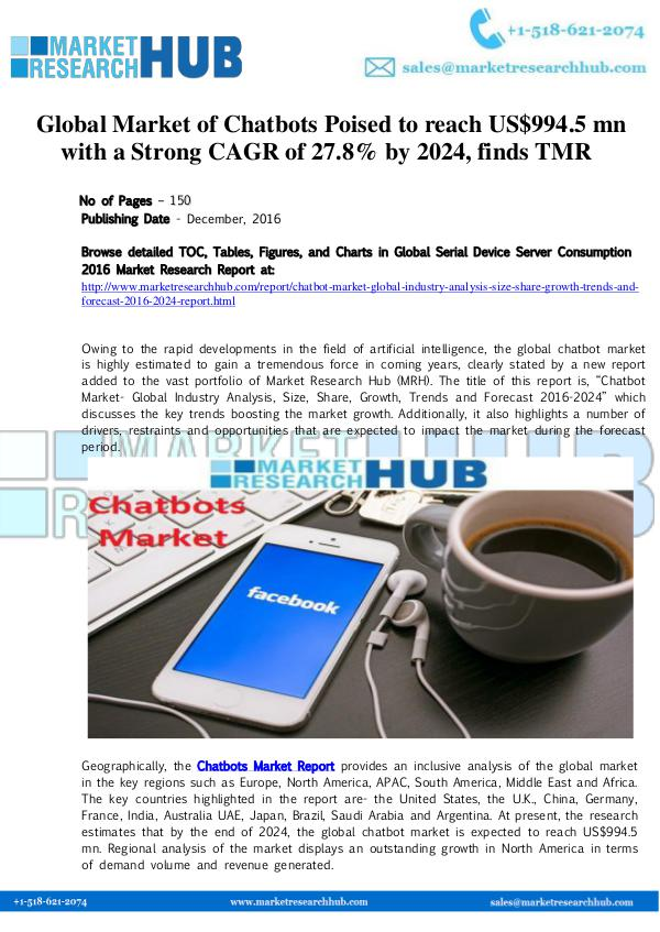 Market Research Report Global Chatbots Market Research Report 2017
