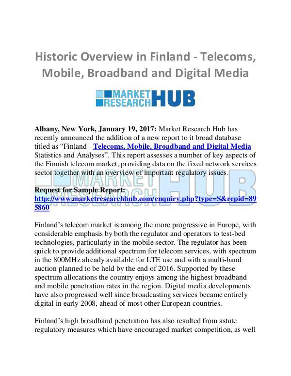 Market Research Report Finland Telecoms, Mobile, Broadband Report