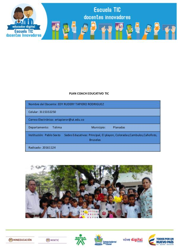Plan couch Educativo TIC 1