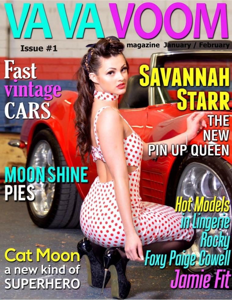 VA VA VOOM Magazine volume 1  pinups with models Savannah,Foxy,Paige