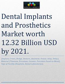Dental Implants and Prosthetics Market worth 12.32 Billion USD by 202