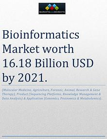 Bioinformatics Market worth 16.18 Billion USD by 2021
