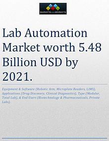 Lab Automation Market worth 5.48 Billion USD by 2021