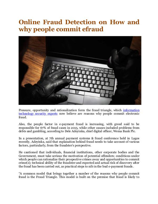 How and why people commit efraud